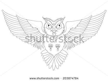 43 best Flying Owl Tattoo Outline images on Pinterest ...