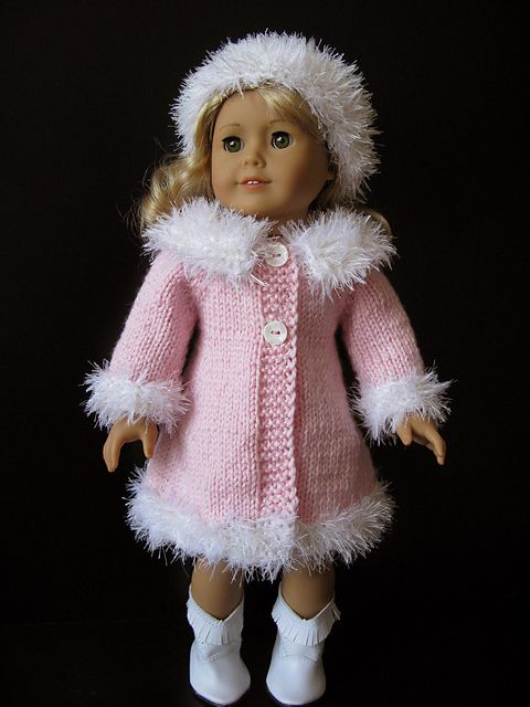 "Ravelry: MAD MEN classic A-line 18"" doll coat and hat pattern by Vita"