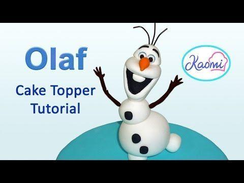 How to make Olaf (Cake Topper) / Cómo hacer a Olaf para decorar tortas
