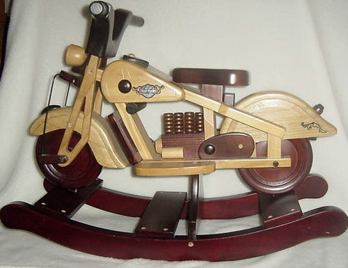 17 best images about motorcycle items on pinterest for Scooter rocking horse