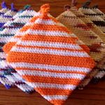 20+ pot holders to make (knit & crochet)