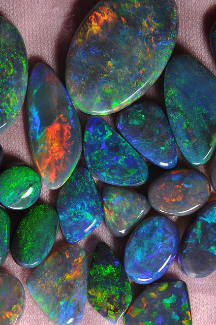 Lightning Ridge solid opals,I have never sern this type of opal!! Gorgeous!