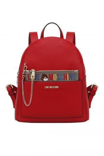 9b20982c90 Love Moschino γυναικείο backpack με αφαιρούμενο τσαντάκι - JC4277PP06KK0 -  Κόκκινο
