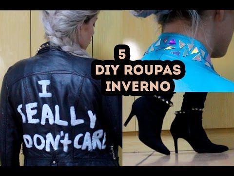 DIY: 5 ROUPAS PARA O OUTONO/INVERNO SEM GASTAR! - CUSTOMIZANDO | Bruna Paola - YouTube