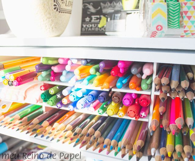 Meu organizador de canetas e sugestões de como você pode fazer o seu - DIY porta treco, lápis de cor, caneta, stabilo