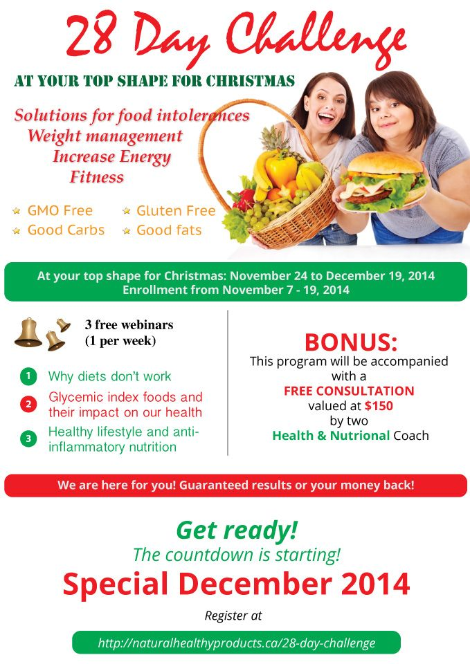 Are you up for a challenge? Are you ready to lose weight in 28 days? Fill in your name below and join the hundreds taking part in this challenge.   http://naturalhealthyproducts.ca/28-day-challenge/
