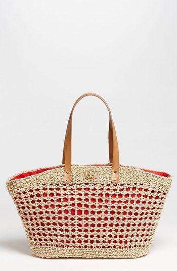 A tisket, a tasket - A Tory Burch straw basket