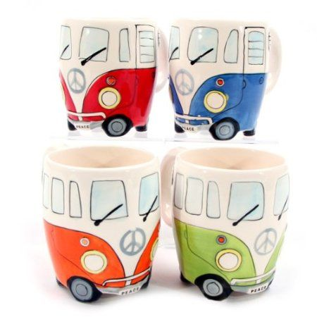 Campervan VW Mugs. Oh for reals. I can't even handle cute mugs!!!