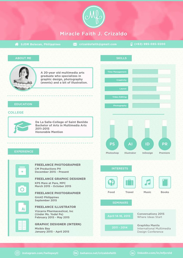 49 best resume images on pinterest creative curriculum resume and