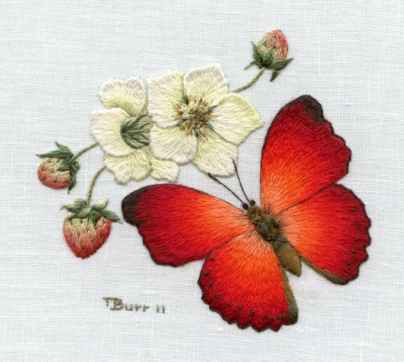 Embroidery Kit: African Red Butterfly by Trish Burr