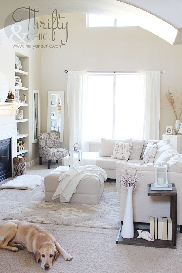 DIY Babyproofing: Neutral Living Room Before & After!
