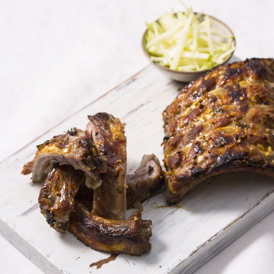 Marcello Tully serves up sticky pork ribs in this mouthwatering barbecue recipe.