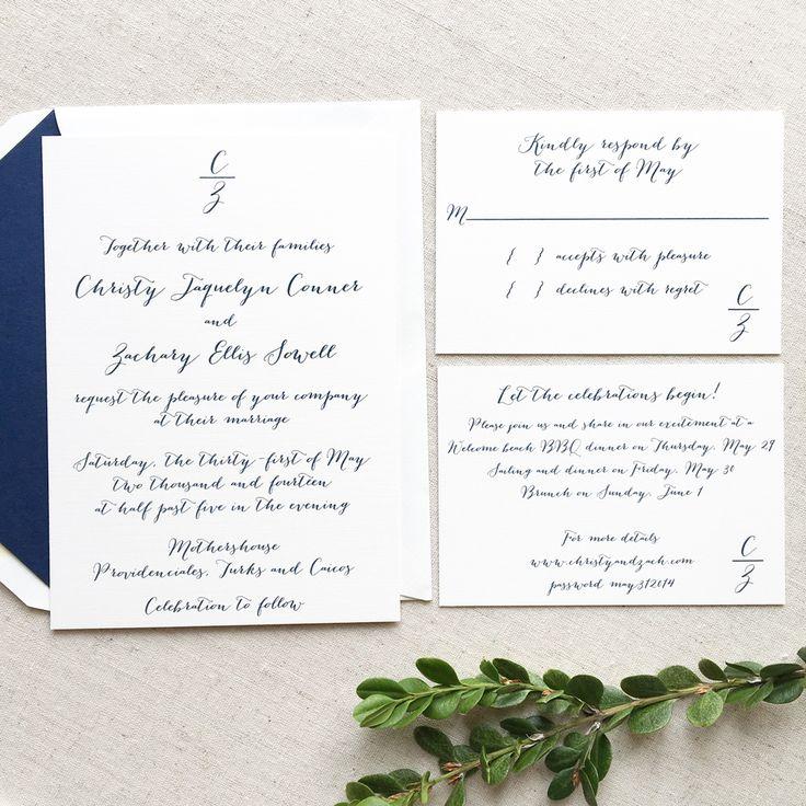 The 25+ best Monogram wedding invitations ideas on Pinterest ...