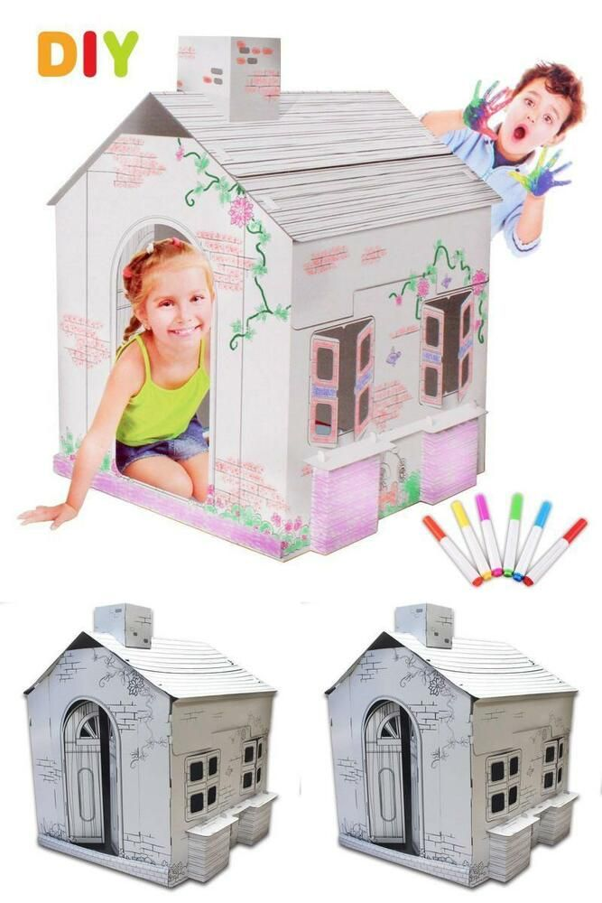 Toddlers Colour House Kids Painting Drawing Playhouse ...