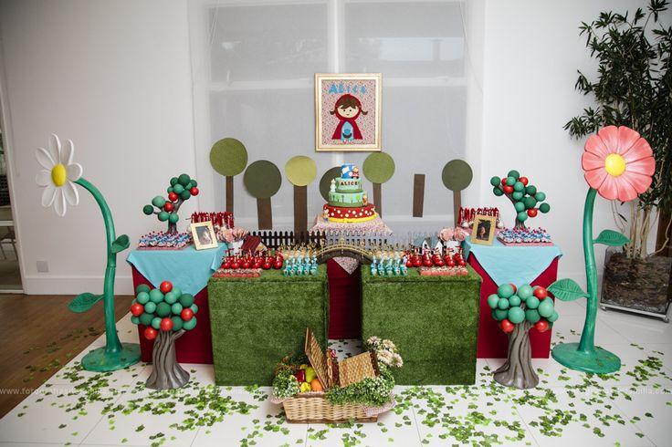 Decoração Chapeuzinho Vermelho | Festa no Quintal | Elo7