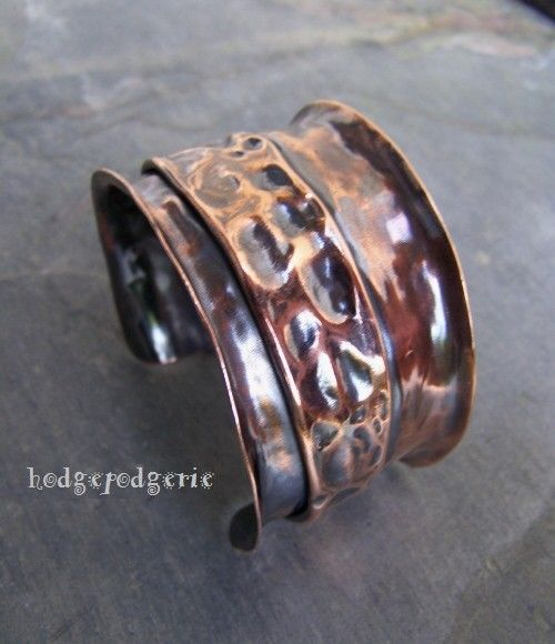 Copper Fold Formed Cuff by hodgepodgerie2 on Etsy, $72.00
