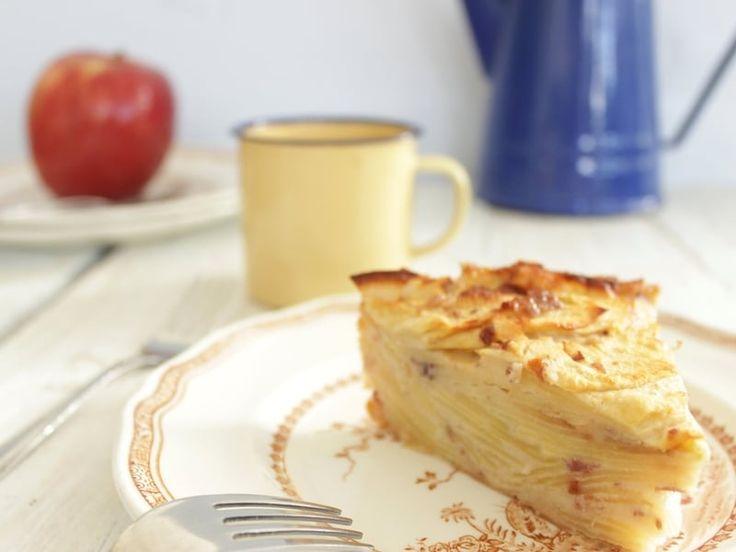 Recette de Gâteau invisible aux pommes, sans sucre ni beurre : la recette facile