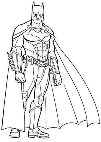 Imagen de Batman Dibujo para colorear | Superheroe | Batman