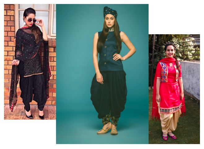 Rock the look of Punjab with Patiala Suits - LookVine