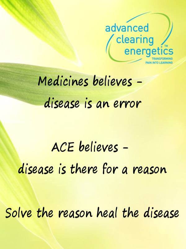 See how ACE can help you heal yourself - visit us at www.advancedclearingenergetics.com