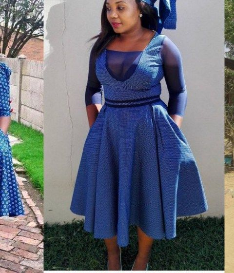 Cinderella Shweshwe Dress: Plain And Pattern Ankara Styles For African Queen To Rock