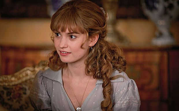 Lily James as Natasha Rostova in War and Peace (2016)