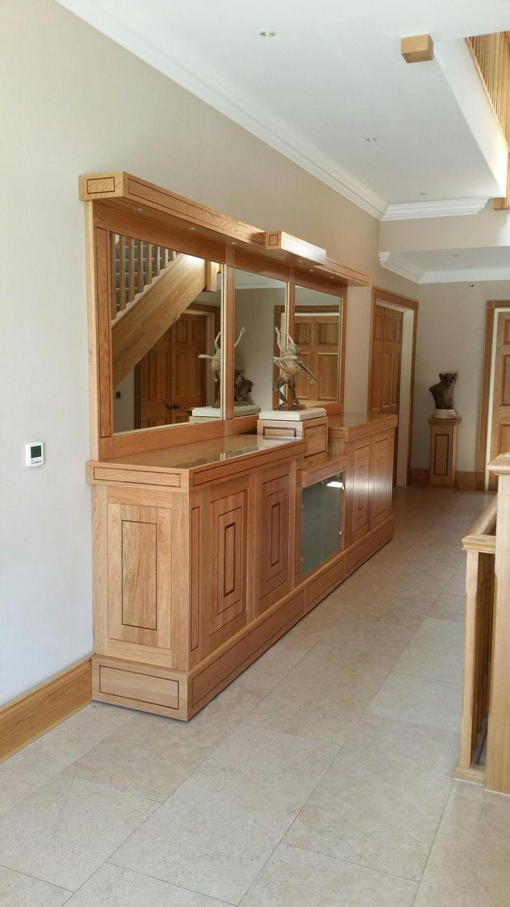 Bespoke Oak Mirror Backed Cabinet with American Black Walnut Inlay
