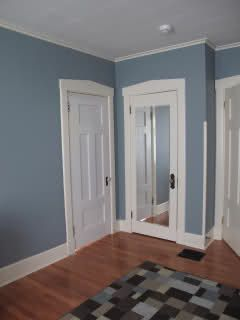 "valspar ""blue twilight"" <3 the color. looks very similar to my ""liberty blue"" I painted all over my downstairs."