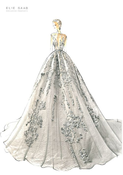 Elie Saab #fashion #sketches #bocetos #moda