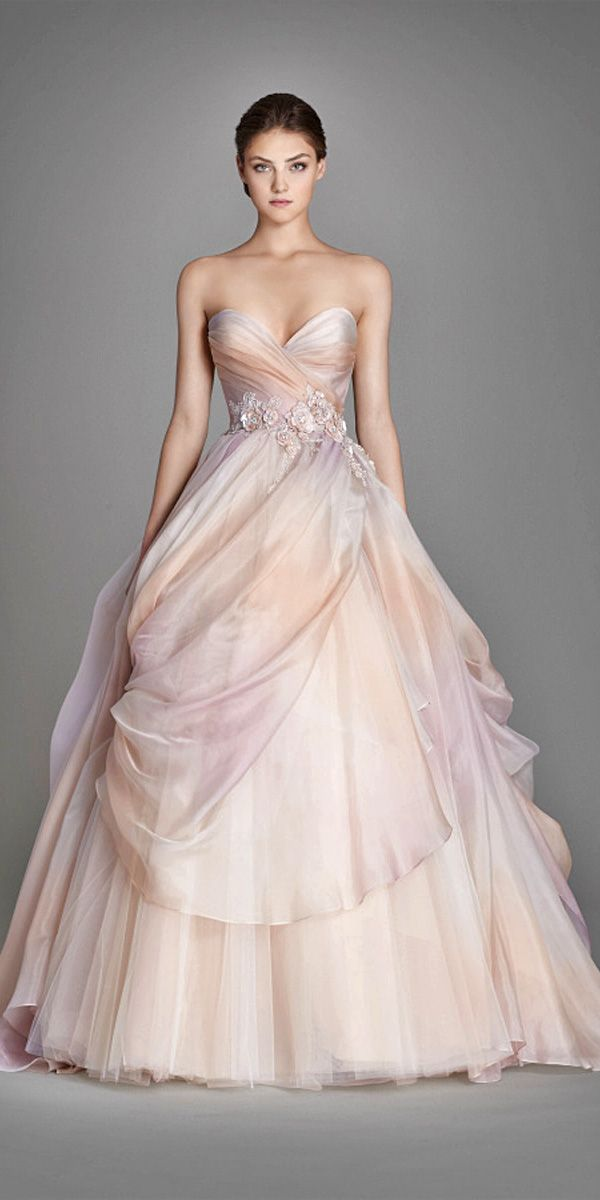 17 Best ideas about Colorful Wedding Dresses on Pinterest ...