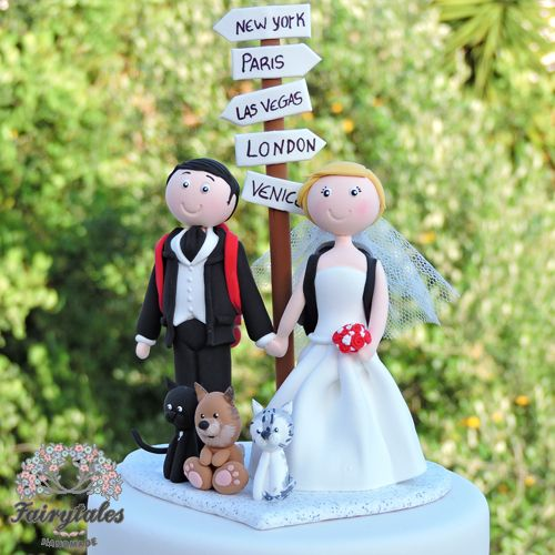 Travel Wedding Cake Topper