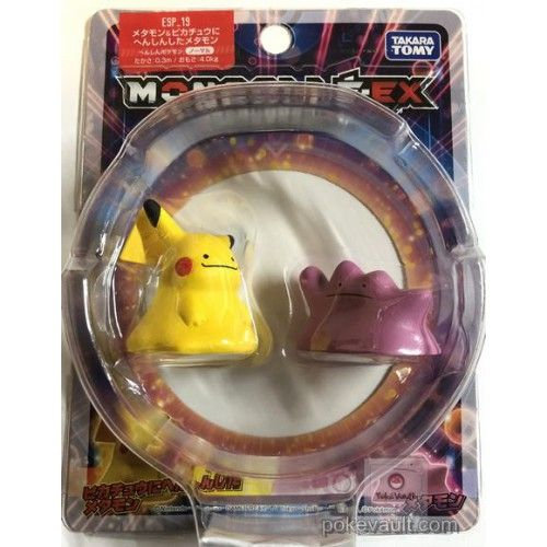 Pokemon 2018 Ditto Pikachu Ditto Monster Collection Moncolle EX Super Size Plastic Figure ESP-19