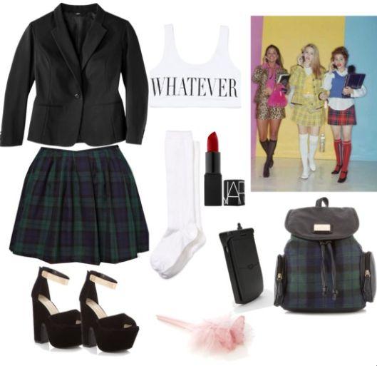 Chic halloween costumes, disfraces fashion para halloween, cher from clueless, Moda 90s, Peli fuera de onda www.PiensaenChic.com