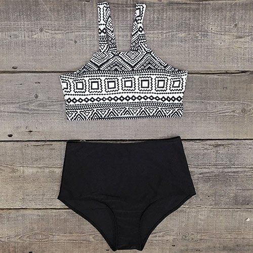 Cupshe Daisy Does It High-waisted Bikini Set | Find Out More & Where To Buy By Clicking Picture | affiliate link | TheProductPromoter.com