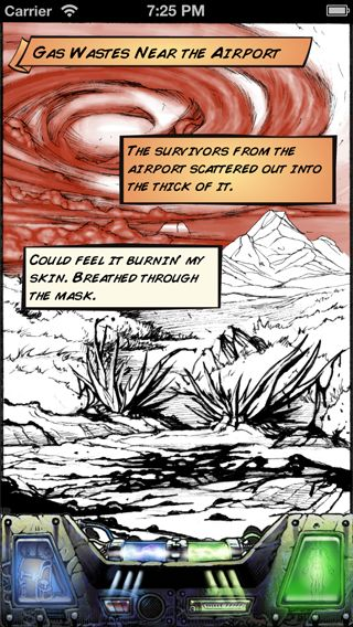 Comic art from the game. The gas wastes.