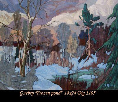 Original painting oil on canvas by Gaston Rebry #gastonrebry #art #artist #canadianartist #quebecartist #nature #forest #winter #originalpainting #oiloncanvas #balcondart #multiartltee