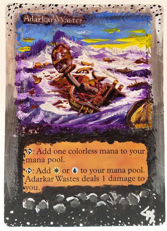 MTG Altered Art Adarkar Wastes Hand Painted Full Art OOAK Rare Magic Card #WizardsoftheCoast Fun~
