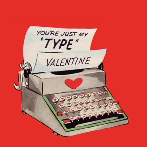Image result for Valentine's Day typewriter