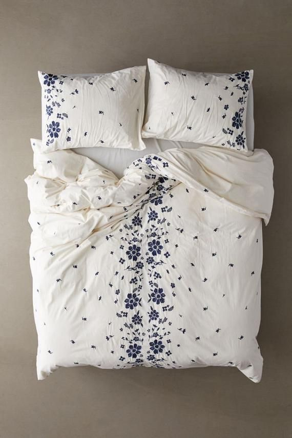 Embroidered Cotton Duvet Cover Set Bohemian Queen Duvet Cover Quilt Cover King Comforter Cover Uo Bedding Full Duvet Cover Boho Bedding Duvet Covers Urban Outfitters Floral Duvet Cover Duvet Cover Sets