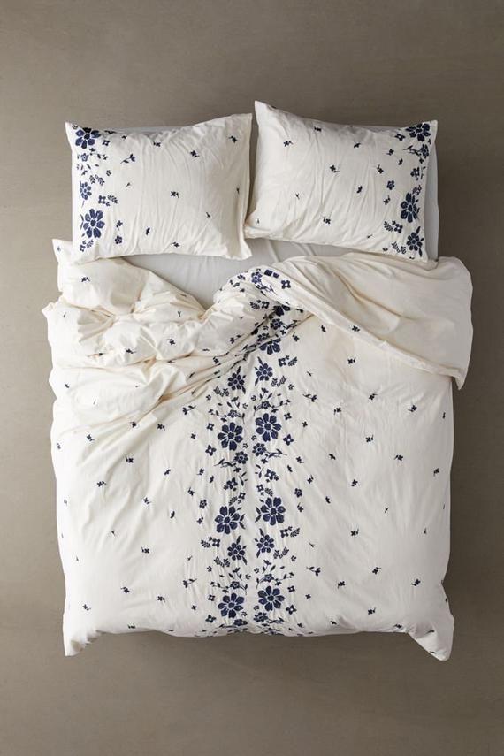Japanese Simple Bedding Set Rural Little Flower Bedclothes Soft Pure Cotton 4pcs Duvet Cover Set Simple Bedding Sets Simple Bed Bedroom Design