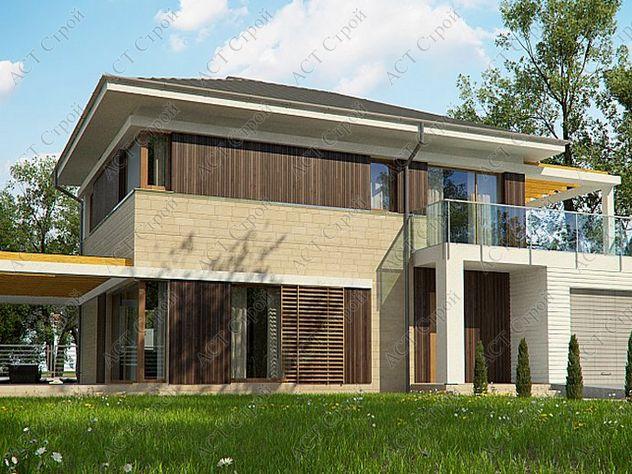 Проект каркасного дома 160 кв.м