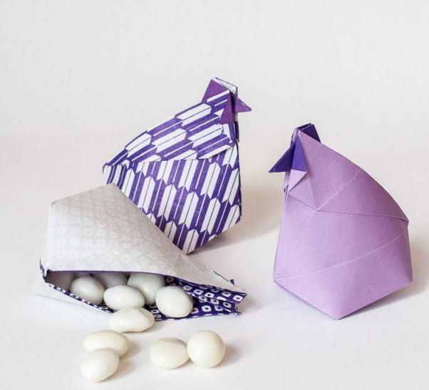 Get ahead of the game by making these adorable Clucking Chicken Origami Boxes for Easter!