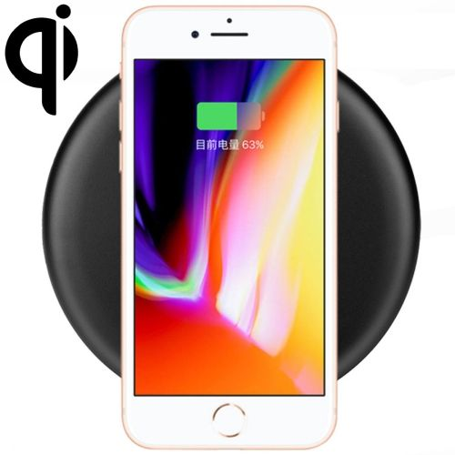 [$7.14] 9V 1A Output Frosted Round Wire Qi Standard Fast Charging Wireless Charger, Cable Length: 1m