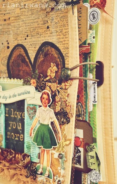 """Awesome detail for a mini album.  Stuffed with """"scrapping"""" detail.  Lots of ideas for journaling. rnirwana.blogspot.com"""