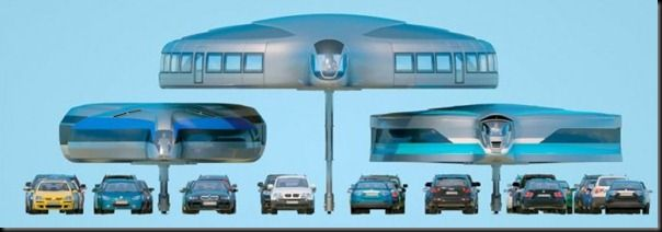 "Future technology Gyrocars - concept of the ""bus of the future"""