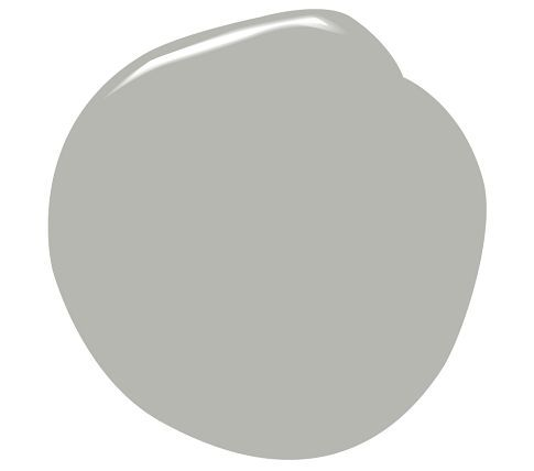Coventry Gray by Benjamin Moore. This gray is perfect. It is just that....GRAY! While I love the grays with a hint of blue or silver, for Bryce's room we wanteda true gray color.