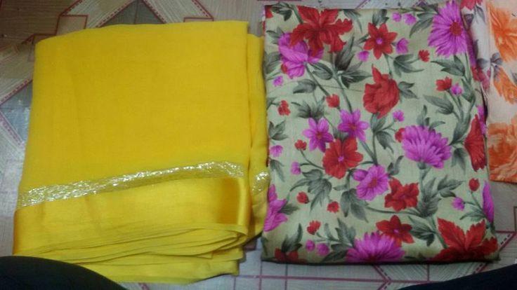 Latest Chiffon Saree With Floral Print Blouses | Buy Online Sarees | Elegant Fashion Wear