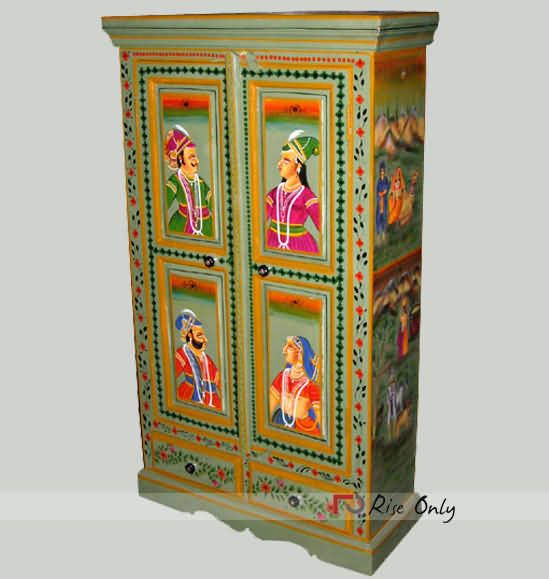 Artistic Work Almirah Of Mango Wood  Online Art Painted Almirah. 13 best Rise Only   Painted Furniture ONline  Painted Wooden