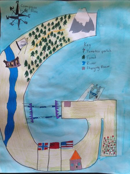 Autobiography maps - map skills, and art to describe your life. Neat!