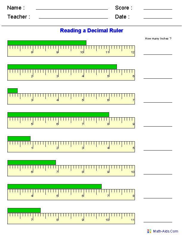 #measurement #worksheet Measurement Worksheets | Dynamically Created Measurement Worksheets